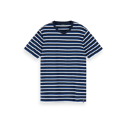 Scotch & Soda T-shirt Gestreept Navy/Wit (155390 - 0217)