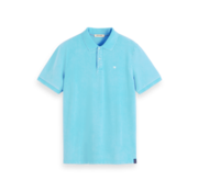Scotch & Soda Polo Stretch Pique Blauw (155461 - 3490)