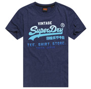 Superdry T-shirt Ronde Hals Logo Navy (M1010093A - BCY)