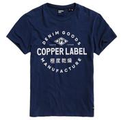 Superdry T-shirt Ronde Hals Copper Label Navy (M1010050A - JUA)