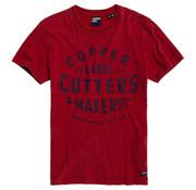 Superdry T-shirt Ronde Hals Copper Label Rood (M1010050A - XSJ)