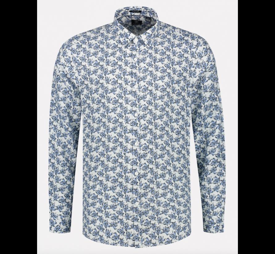 Overhemd Regular Fit Print Wit (303304 - 100)