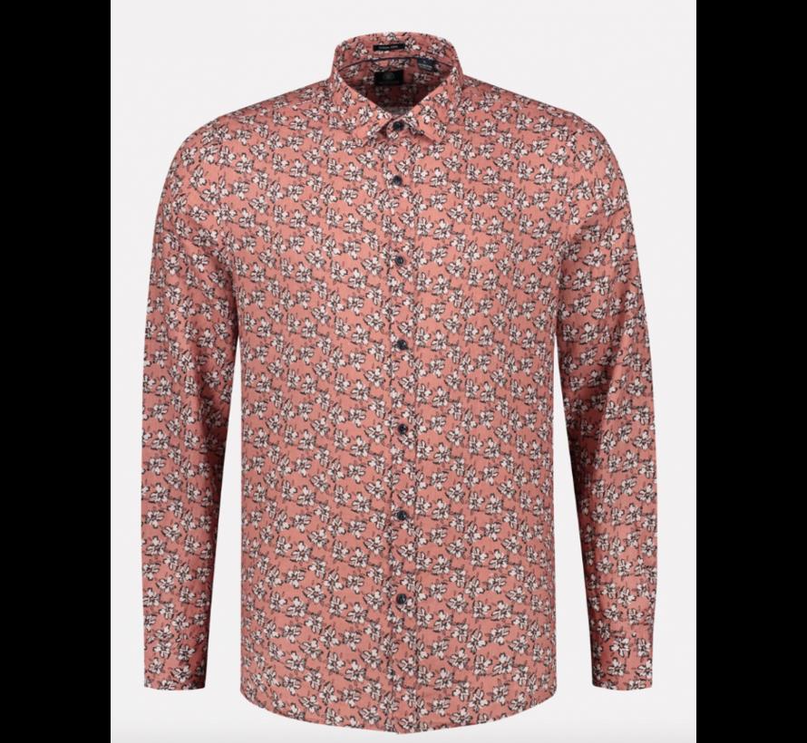Overhemd Regular Fit Print Roze (303304 - 434)