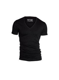 Garage Basic T-shirt Diepe V-Hals Semi Bodyfit Zwart (0304 - 200)