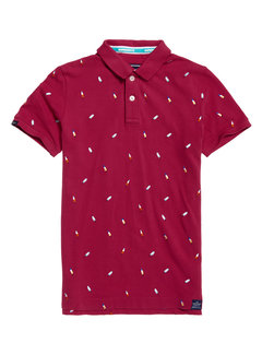 Superdry Polo City IJsjes Bordeaux Rood (M11200RU - S4P)