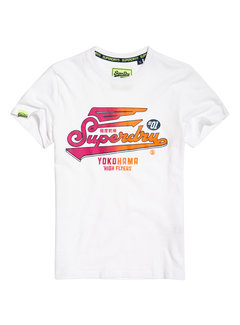 Superdry T-shirt Rond hals Logo Wit (M10101IT - 01C)