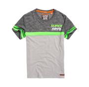 Superdry T-shirt Ronde hals Grijs/Groen (M10103TT - XGH)