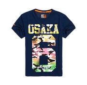 Superdry T-shirt Ronde Hals Osaka Navy (M10104AT - B3P)