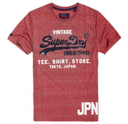 Superdry T-shirt Ronde Hals Logo Rood (M10116TT - KTX)