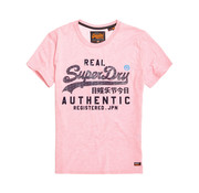 Superdry T-shirt Ronde Hals Logo Pastel Roze (M10128TT - MRQ)