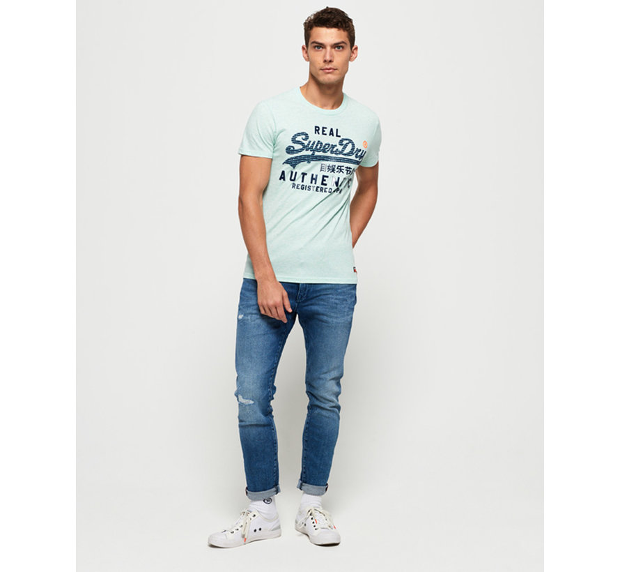 T-shirt Ronde Hals Logo Pastel Mint (M10128TT - RQ7)