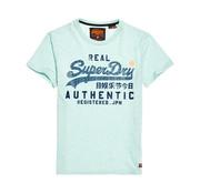 Superdry T-shirt Ronde Hals Logo Pastel Mint (M10128TT - RQ7)