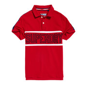 Superdry Polo Retro Sports Rood (M11014ET - 02I)