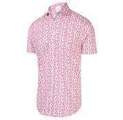 Blue Industry Korte Mouw Overhemd Print Roze (2071.21)
