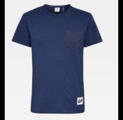 G-star T-shirt Ronde Hals met Borstzakje Blauw (D16426 - B255 - 1305)