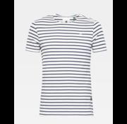G-star T-shirt Ronde Hals Gestreept Navy/Wit (D16428 - C176 - 8340)