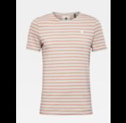 G-star T-shirt Ronde Hals Gestreept Roze/Gebroken wit (D16428 - C176 - B315)