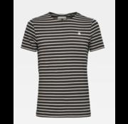 G-star T-shirt Ronde Hals Gestreept Bruin/Wit (D16428 - C176 - B316)