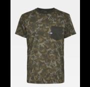 G-star T-shirt met Borstzakje Print Groen (D16423 - C201 - B310)