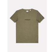 Dstrezzed T-shirt Ronde Hals Streep Army Groen (202550 - 511)
