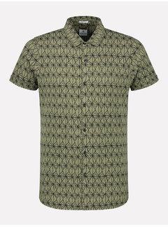 Dstrezzed Korte Mouw Overhemd Print Army Groen (311202 - 511)