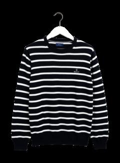 Gant Sweater Gestreept Navy/Wit (8000109 - 433)