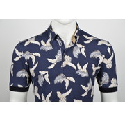 Culture Polo Print Bladeren Navy (215263 - 38)