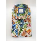 Marnelli Overhemd Hidden Button Down Tailored Fit Ink Flower Print (SH008-5-350)