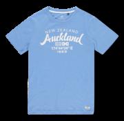 New Zealand Auckland T-shirt Ronde Hals Tarawera Blauw (20CN721 - 259)