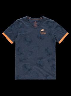 New Zealand Auckland T-shirt V-Hals Tairutu Navy Blauw (20CN723 - 269)