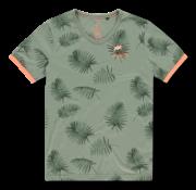 New Zealand Auckland T-shirt V-Hals Tairutu Army Groen (20CN723 - 494)