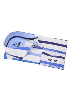Culture Overhemd Modern Fit Gestreept Blauw/Wit (215327 - 38)