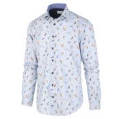 Jackett & Sons Overhemd Print Eenden Lichtblauw (JS2902 - Blue)