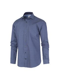 Jackett & Sons Overhemd Print Donker Blauw (JS2911 - Blue)