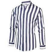 Blue Industry Overhemd Linnen Streep Wit/Blauw (2016.21)