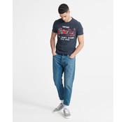 Superdry T-shirt Ronde Hals Logo Navy (M1010080B - JUA)