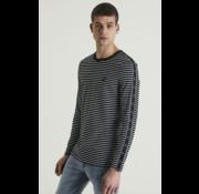 CHASIN' Lange Mouw T-shirt Shoreman Navy Streep (5111400040 - E90)