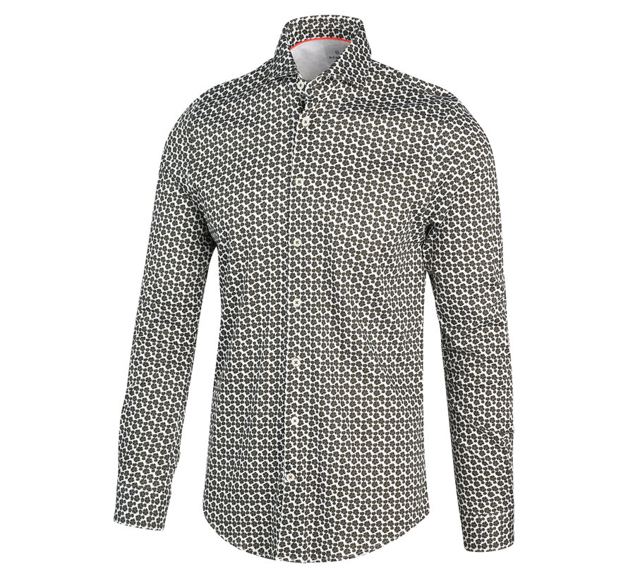 Overhemd Print Groen (2038.21)