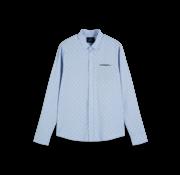 Scotch & Soda Overhemd Regular Fit Print Blauw (155168 - 0218)