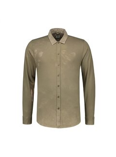 Dstrezzed Overhemd Acid Washed Army Groen (202352 - 511)