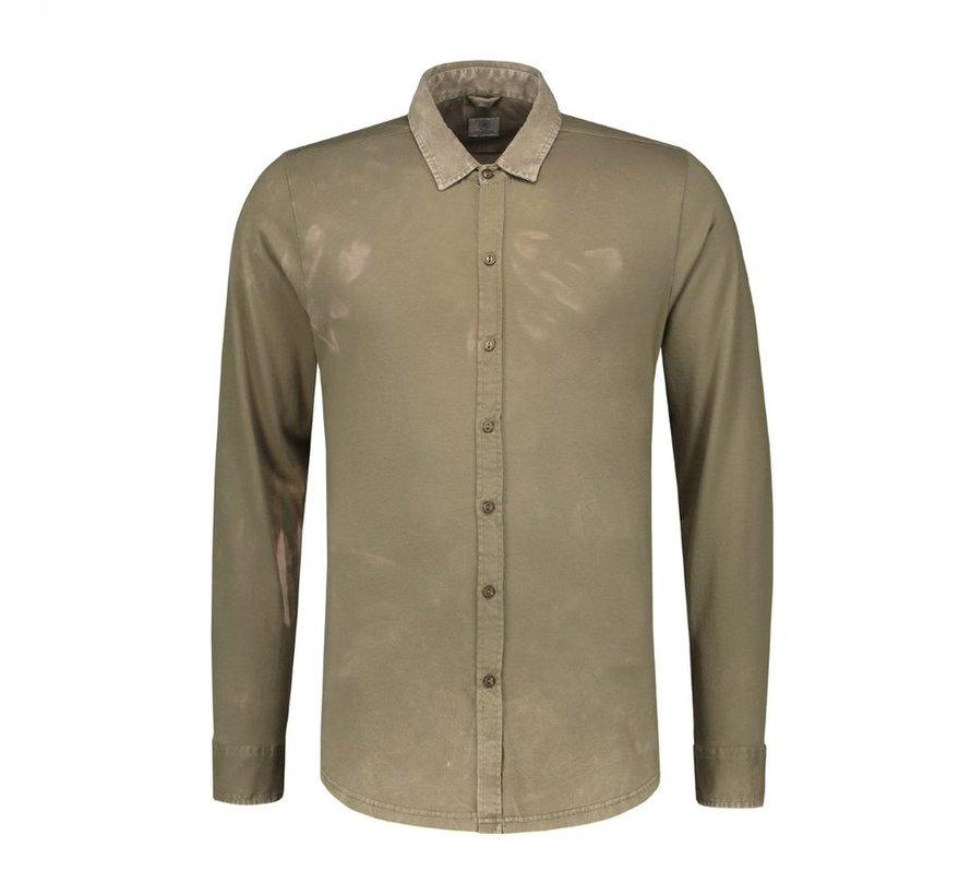 Overhemd Acid Washed Army Groen (202352 - 511)