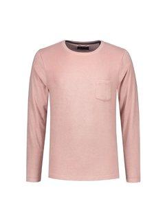 Dstrezzed Longsleeve T-shirt met Borstzakje Lichtroze (202368 - 429)