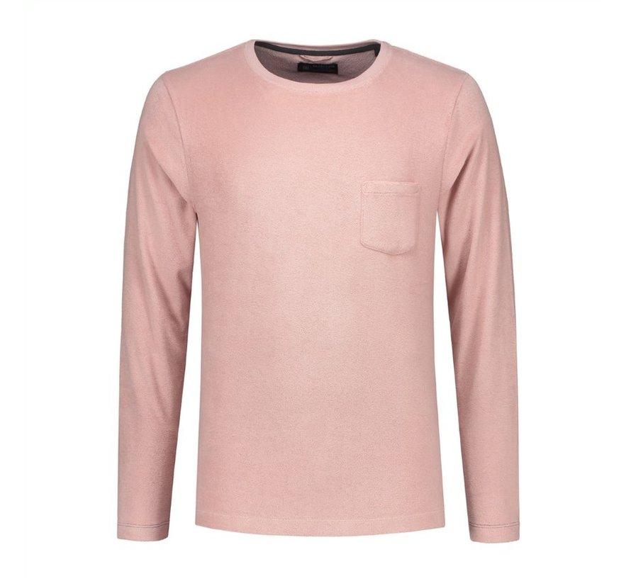 Longsleeve T-shirt met Borstzakje Lichtroze (202368 - 429)