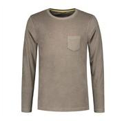 Dstrezzed Longsleeve T-shirt met Borstzakje Army Groen (202368 - 511)