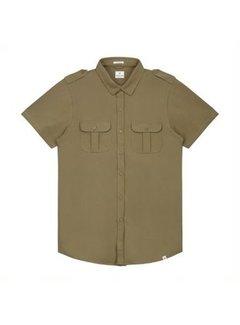 Dstrezzed Overhemd Korte Mouwen Stretch Army Groen (311128 - 511)