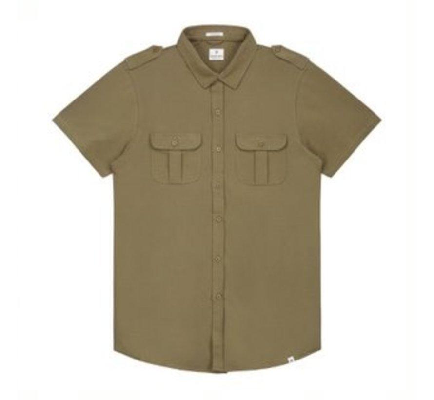 Overhemd Korte Mouwen Stretch Army Groen (311128 - 511)