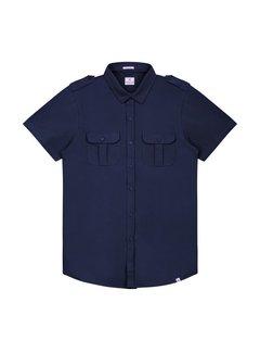 Dstrezzed Overhemd Korte Mouwen Stretch Navy (311128 - 649)