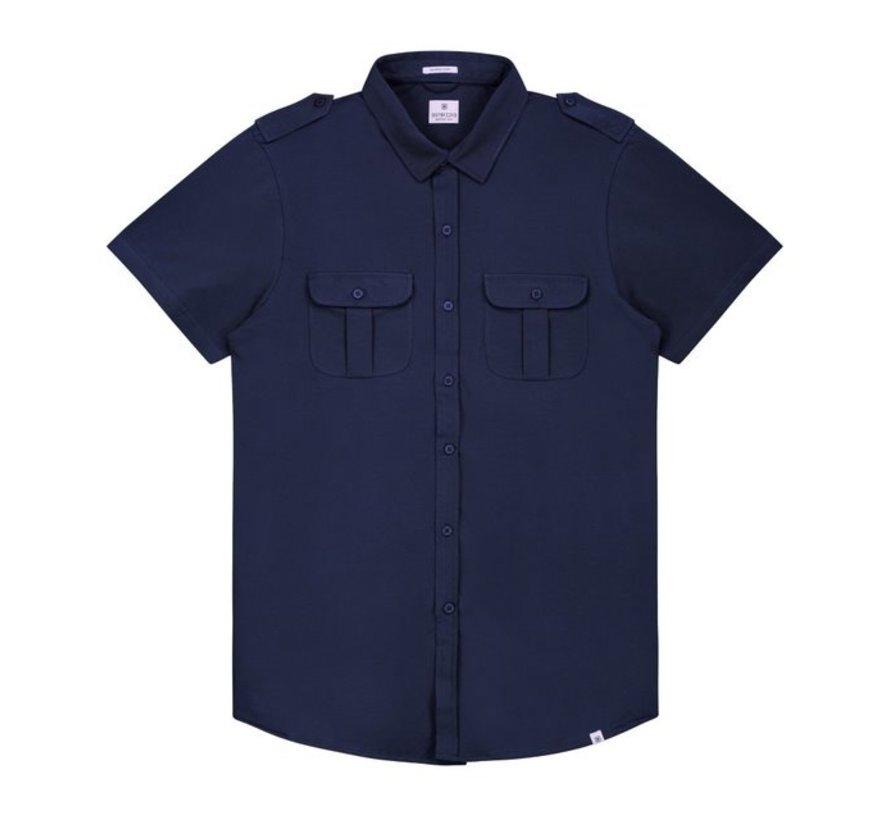 Overhemd Korte Mouwen Stretch Navy (311128 - 649)