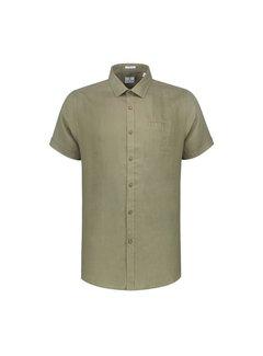 Dstrezzed Overhemd Korte Mouwen Linnen Army Groen (311136 - 511)