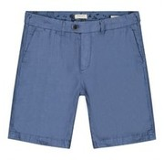 Dstrezzed Chino Short Herringbone Linnen Horizon Blauw (515060 - 626)